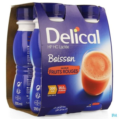 Delical Melkdrank Hp-hc Rode Vr.4x200ml Cfr4278651
