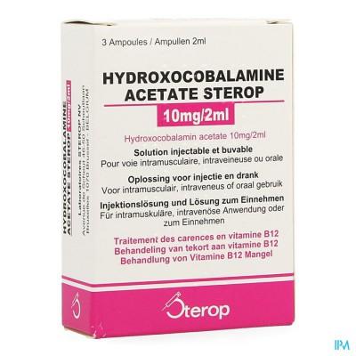 Hydroxocobal.acet. Amp 3x10mg/2ml