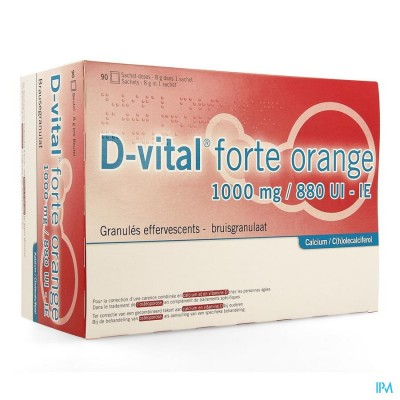D-vital Forte Sinaas 1000/880 Zakje 90