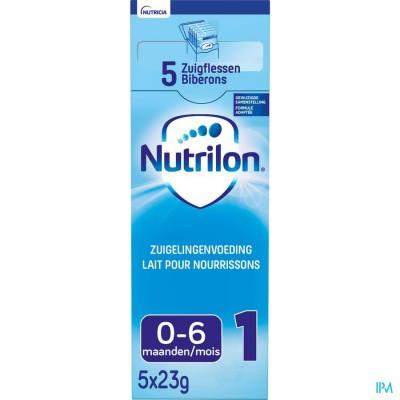 Nutrilon 1 poeder 5x23g volledige zuigelingenvoeding