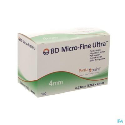 Bd Microfine Ultra Pennaald 4mm 32g Easyflow 100