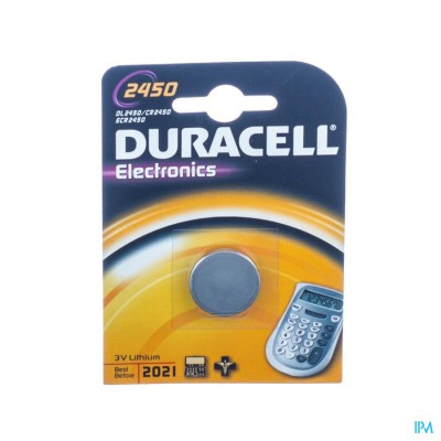 Duracell Dl/cr 2450 Diam24mm Ep50mm
