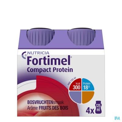 Fortimel Compact Protein Bosvruchten Flesjes 4x125 ml