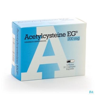 Acetylcysteine Eg Caps 30 X 200mg
