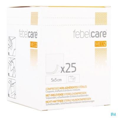 Febelcare Med2 Komp.n/inkl. Ster. 5,0x 5,0cm 25x1