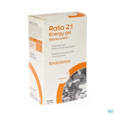 Trisportpharma Ratio 2:1 Energygel Blackcur.10x50g