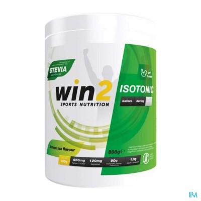 Win2 Isotonic Lemon Tea Pdr 800g