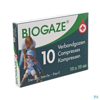Biogaze 10 Verbandgazen 10 x 10 cm
