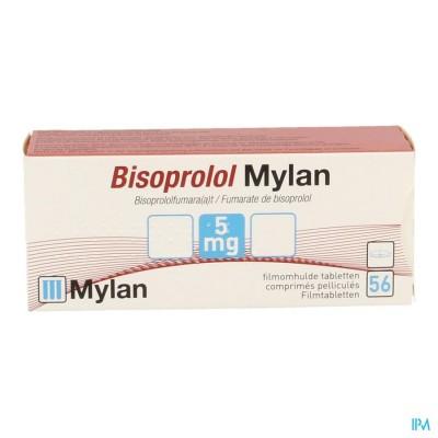 Bisoprolol Mylan 5,0mg Comp 56 X 5,0mg